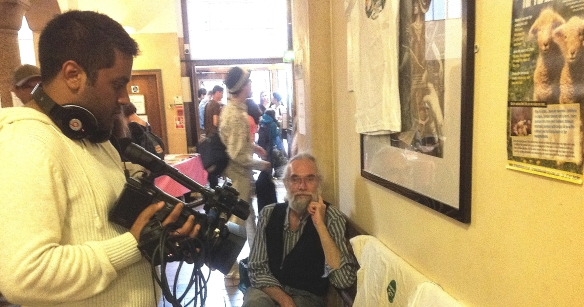 My friend Doug Henderson, chillin' like a villain at the London Vegan Festival