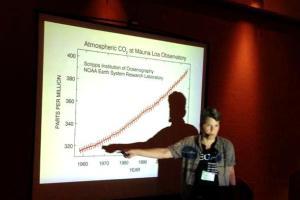 Lee Hall speaking on climate